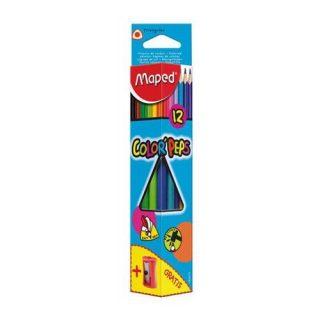 Ceruzky MAPED/12 3HR farebná súprava+strúhatko