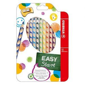 Ceruzky STABILO EASYcolors/12 3HR ľavák fareb. súpr.+ strúhadlo