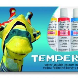 Temperové farby, vodové farby, olejové farby, farby na sklo, farby na tvár, fixatív